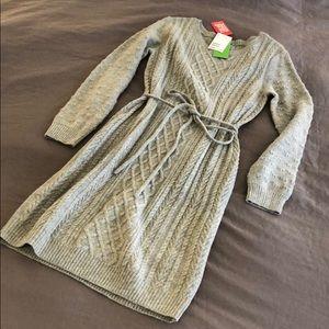 H&M Long Sleeve Sweater Dress M Gray